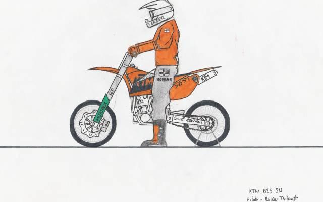 Dessins de moto - Dessin de motard ...