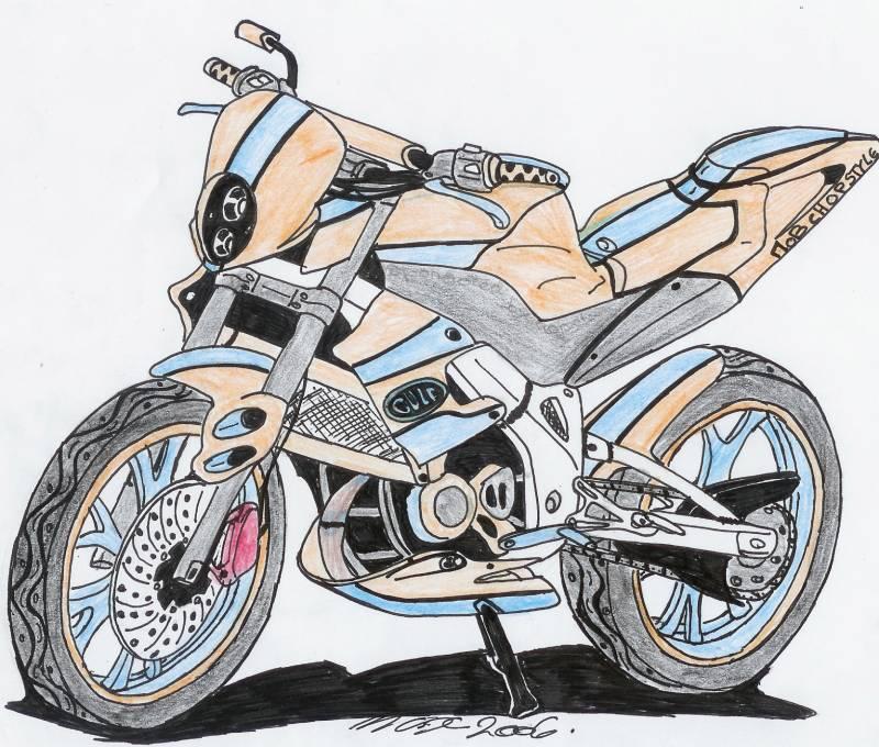Dessins - Dessin de moto facile a faire ...